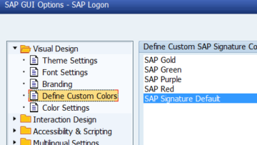 How to change color in SAP?