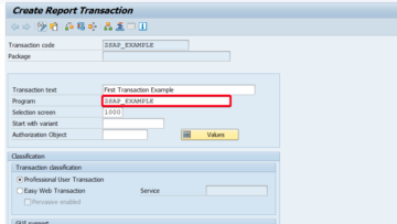 How to create transaction code (tcode) in SAP?